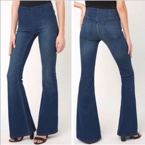 Free people pull on penny flared jeans 27
